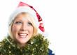 Hübsche Weihnachtsfrau