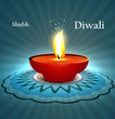 Beautiful diwali diya rangoli with space for your text design ve