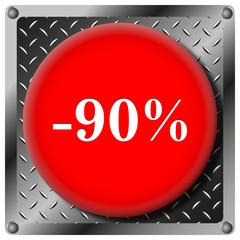 90% Discount metallic icon