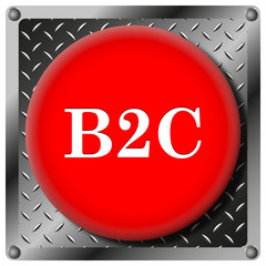 B2C metallic icon