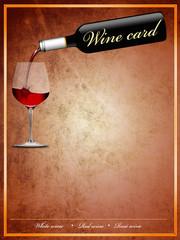 Weinkarte in englisch