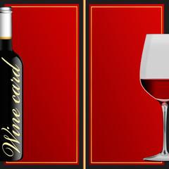 Weinkarte - doppelseitig in englisch