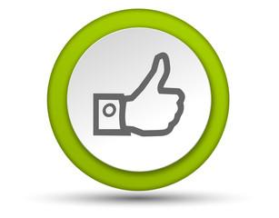 Icon rund grüner Daumen