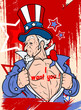 Uncle sam - I want you - 4th of July Vector theme Design
