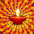 Beautiful happy diwali dotted colorful presentation hindu diya f