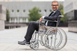 Businessman on wheelchair