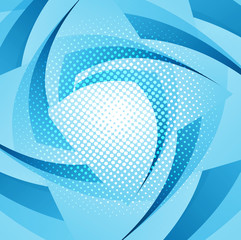 Abstract geometric blue colorful swirl wave background vector