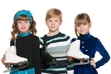 Children with skates