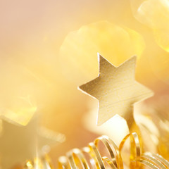 background in gold with star
