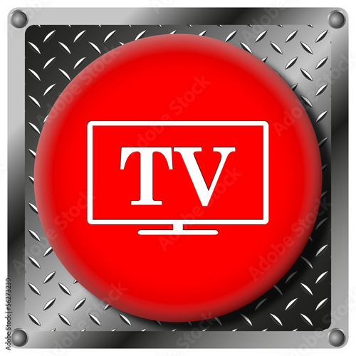 TV metallic icon