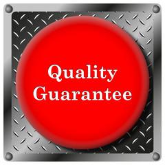 Quality guarantee metallic icon