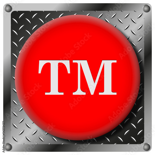 Trade mark metallic icon