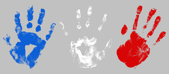 hand prints - USA Independence Day Vector theme Design