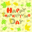 Happy Thanksgiving abstract inscription card