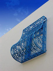 Blue balcony in Tunisia,Sidi Bou Said