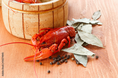 Close up of boiled crawfish