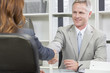 Man or Businessman Office Handshake Female Colleague
