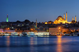 Istanbul's blue evening with Suleymaniye Mosque