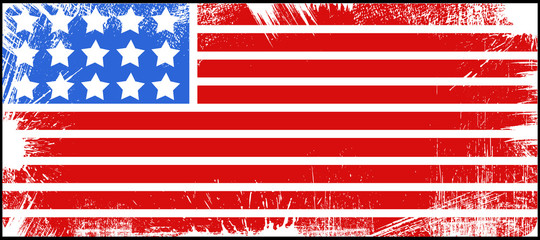 flag - US 4th of July - Independence Day Vector Design