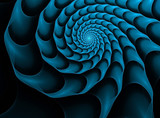 fractal background with blue spiral