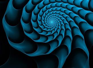 fractal background with blue spiral