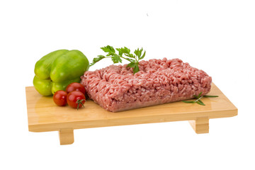 Stuffed raw meat