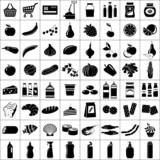 Fototapety Set of supermarket symbols. Vector illustration