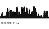 Philadelphia city skyline silhouette background
