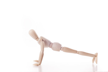 wooden manikin push-up