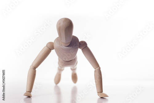 push-up wooden manikin