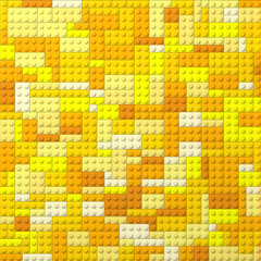 Toy bricks color background - yellow