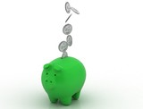 piggy green bank