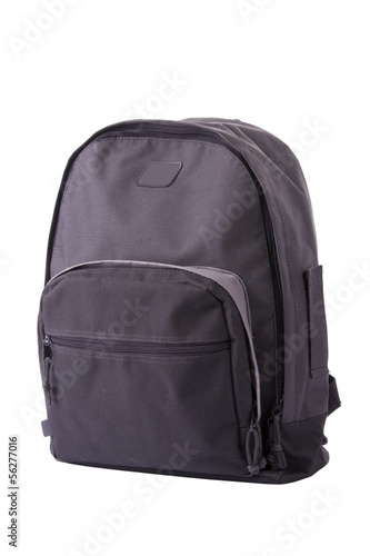 School bag isolated on a white background.