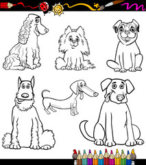 Cartoon Dog Breeds Coloring Page