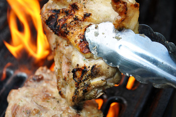 Flipping Flaming Chicken