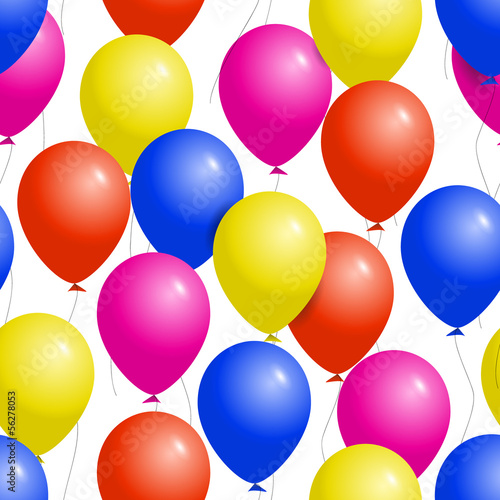 Colorful balloons seamless party pattern