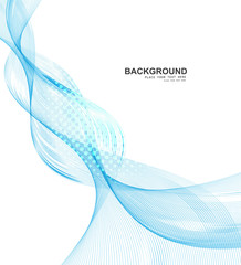 abstract blue business line wave vector whit background illustra