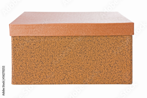 Closed decorative box isolated on a white background