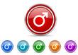 male icon set