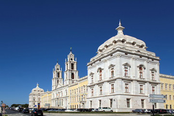 Baroque Mafra National Palace, Convent and Basilica in Portugal