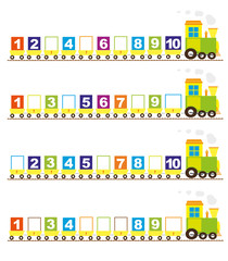 Maths trains with numbers: 1-10