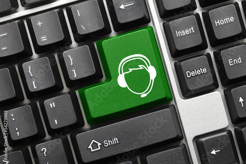 Conceptual keyboard - Call Center Operator (green key)