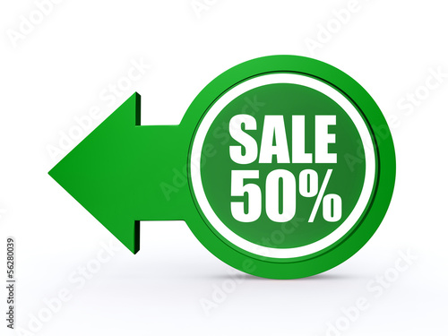 sale arrow icon on white background