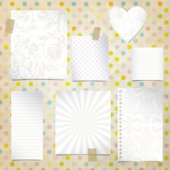 Old paper notebook - set of backgrounds
