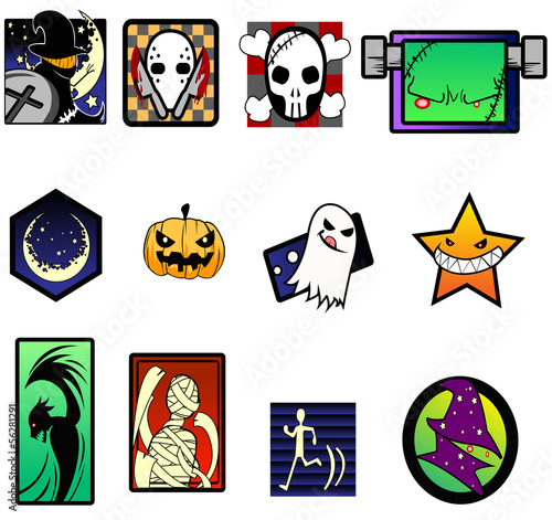 Fancy and extreme Halloween symbol set