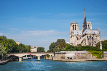Notre Dame Cathedral from Seine