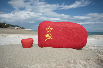 Love CCCP, nostalgia concept on stones
