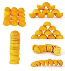 Orangenschalen.-Collage