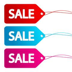 Set of sale paper labels