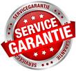 "Button Banner ""Servicegarantie"" rot/silber"